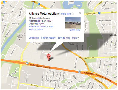 Directions to Auctions Motor Alliance